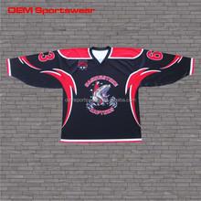 Custom designed ice hockey jerseys sublimation printing