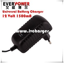High precision voltage wall mount Universal 12V 1.5Amp SLA battery float charger model: EP-P2012-A12