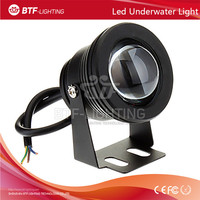 10W 12V-24V Convex Glass underwater light RGB Color Waterproof Floodlight outdoor Lighting Silver/black/gold surface