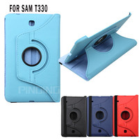 high quality 360 rotating 8 inch leather case for samsung galaxy tab 4 8.0 T330