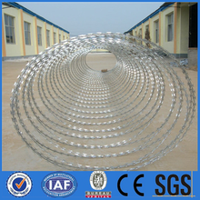 0.4-0.6mm PVC/PE thickness TianJin port barbed wire