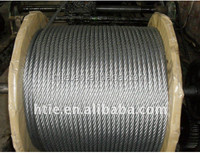 galvanized steel wire rope factory 6x19+fc