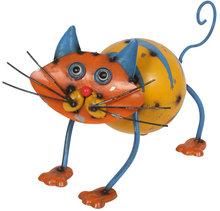 Jardín de Metal animal construcción de acero ' Colin el gato ' figura