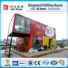 Luxury weld container house/mobile home/container fabrics