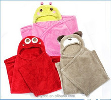 Hooded Animal Blanket for children/Animal Fleece Blanket with Hooded