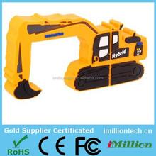 pvc excavator shape usb flash drive, excavator shaped usb drive, excavator shape usb sticks