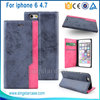 High Quality Mobile Phone Accessory Card Holder Leather Flip Case for iPhone 6