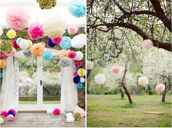 Paper Tissue Flowers Tissue Paper Poms Centerpieces - Wedding ...