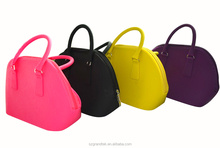 Newest fashionable silicone lady hand bag for personal dressing up / Top quality silicone women's bag for travel