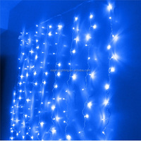 outdoor/inddor christmas decor led curtain light solar Low Voltage red and white christmas garland
