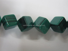 Wholesaler malachite cube bead mineral gemstone for decoration