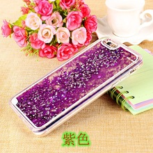Glitter free flowing liquid star soft TPU mobile phone back case for iphone