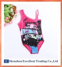 Girls Kids Monster High School Swimsuit Tankini Swimwear Bathing Suit New Style Hot Sale Beachwear