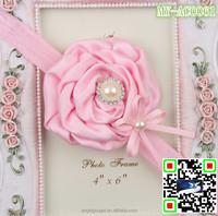 ribbon rose flower bow tie goody hair accessories cheap glow headband MY-AC0061