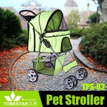 Four Wheel Cat Dog Foldable Carrier Strolling Cart