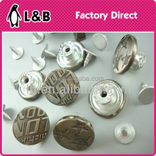 custom jean shank buttons for jeans garment