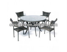 2014 Widely Used 5 Psc Dinning Table Sets Modern Office Rattan Furniture Set