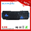 Christmas Promotion Membrane Keyboard QWERTY USB Wired Type Multimedia Keyboard