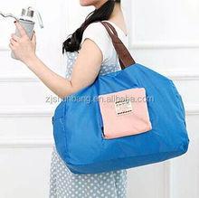 2015 cheap 600 denier polyester tote bag/ zebra print shopping bags/ folding bag in fish shape