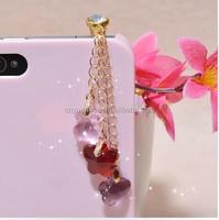 Promotional Gifts Colorful Star Design Crystal Earphone Jack Dustproof Plug mobile phone accessories
