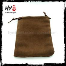 promotional single drawstring jewellery pouches,suede bags for jewelry,colour suede jewelry bag with logo