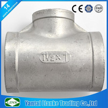 precision stainless steel plumbing pipe joint fitting reducer tee connector