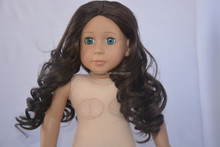 2015 dark brown curly 18 inch doll wig/african american curly wigs/doll hair wigs