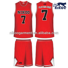 oem sublimated training basketball set jersey and shorts for leagues