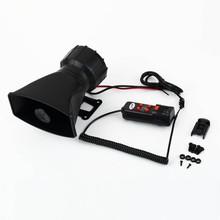 Powerful Car Horn Loud Horn Car 12V Multi Sound Car Horn for Car Auto Van Truck PA System 60W Max 300dB 5 Sounds tone