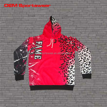 Adult size customize sublimation pullover hoodie