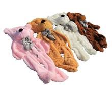 2015 new bear plush toy skin, unstuffed bear plush toy