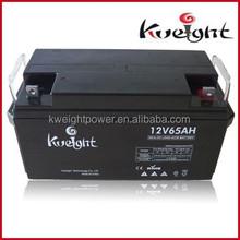 AGM Deep Cycle Battery 12V 65Ah for Solar Battery