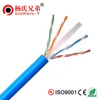 24 AWG CCA Conductor UTP/FTP/SSTP Cat6 Lan Cable