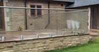 High quality ss304&316 galvanized balcony railing, wrought iron railings used