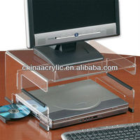 Clear Acrylic Monitor/Keyboard Stand