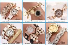 Fashion Women Lady Round Dial Quartz Analog Wrist Watch PU Leather Band