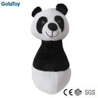 Cute custom plush panda bowling toy stuffed soft bowling play set