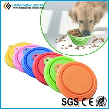 cheap silicone pet dog water bowl