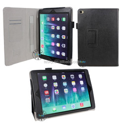 for ipad air 2 card holder wallet hand strap magnetic leather case
