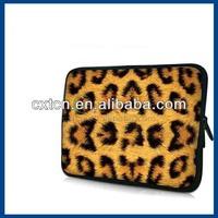 "Leopard Print Neoprene Laptop Sleeve Case for 10-15"" for iPad for MacBook Dell HP for Acer forSamsung"