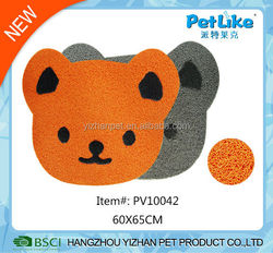 2016 China wholesale cartoon design PVC pet feeding mat