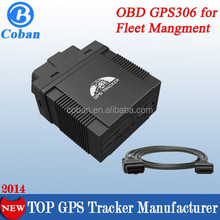 plug and play obd ii gps gprs gsm car tracker 306A with Mileage report,fuel report,diagnostic function