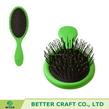 2015 hot plastic easy clean hair brush in different color wet brush
