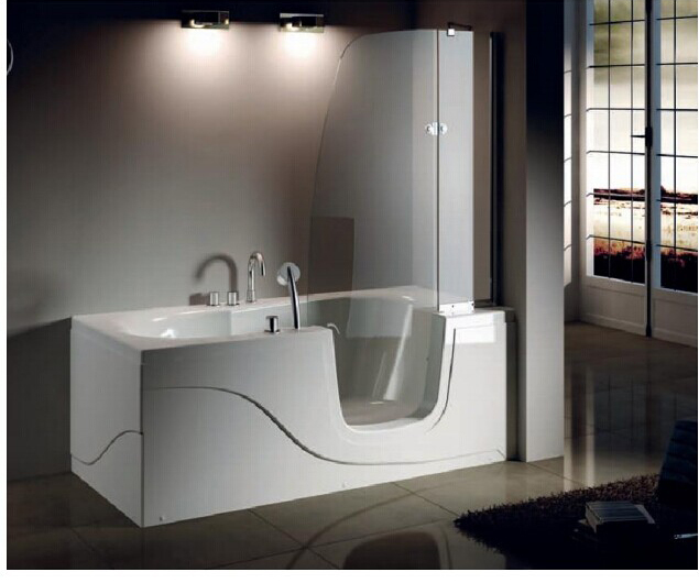 ... B012A walk in bath tub,jetted tub shower combo,small apron tub shower