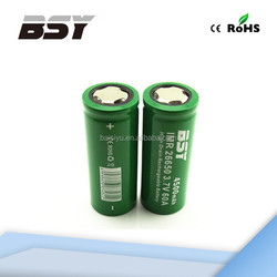 best selling imr26650 4500mah high drain 3.7v rechargeable battery bsy 26650 rechargeable flood light battery
