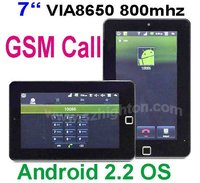 Cheapest 7 inch VIA VM8650 GSM Tablet PC MID with GSM phone