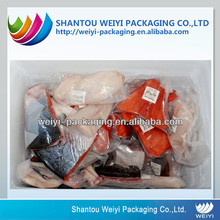 Display frozen chicken meat packing transparent vacuum bag