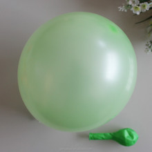 "children toy 10"" 1.8 g pearl light green balloon"