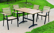 Olive Ash solid Wood Outdoor Furniture courtyard dining set