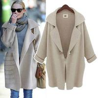 New arrival winter ladies clothes wholesale women coats cheap fashion long loose women overcoat